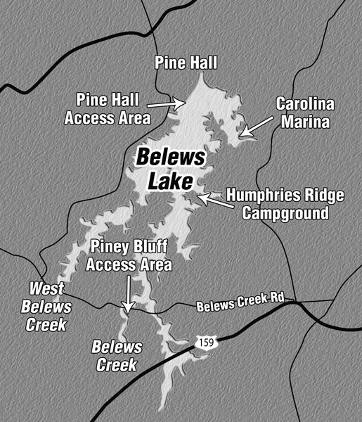 belews creek lake map Power Plant Winter Bass Fishing Sc Belews Lake belews creek lake map