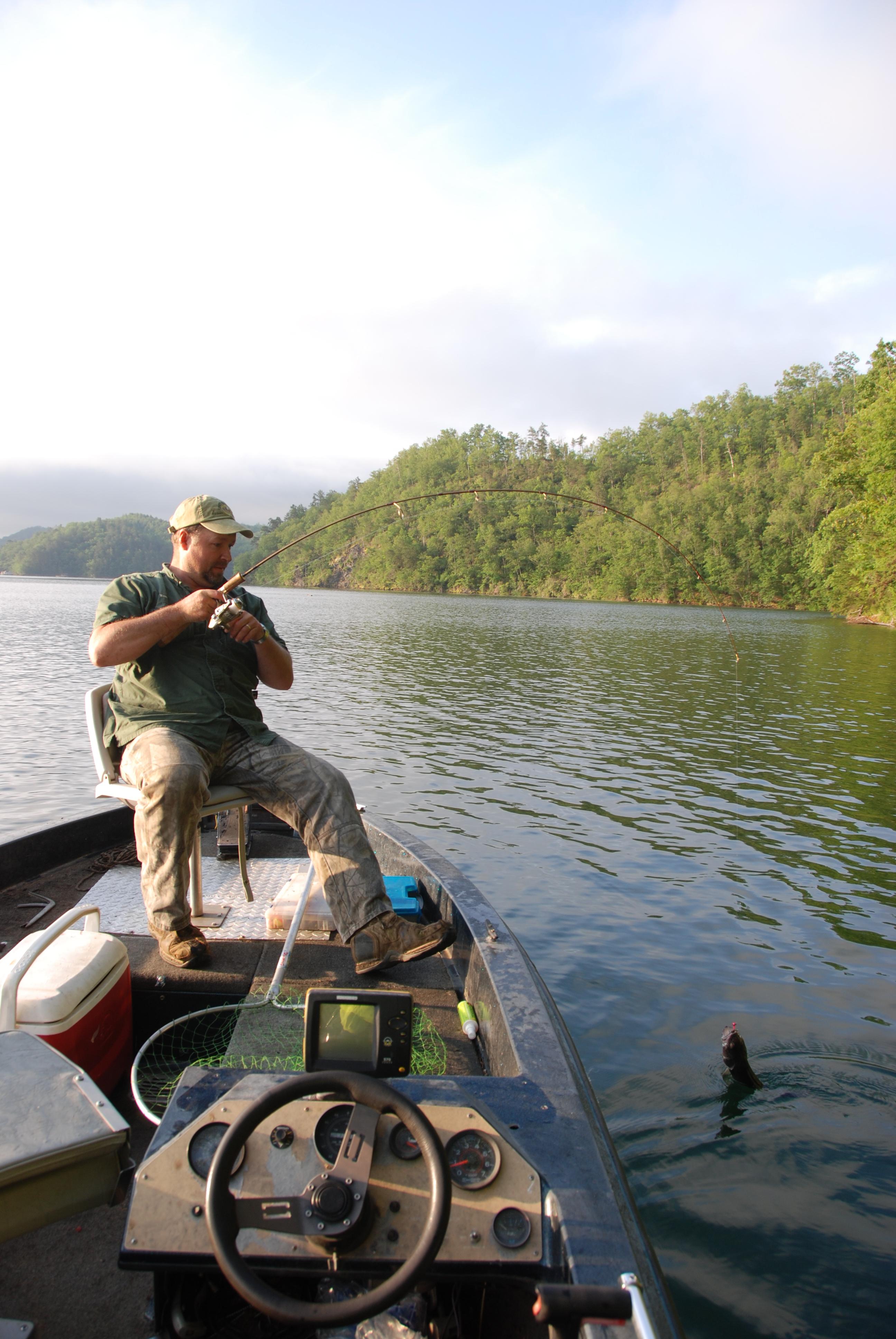 Fontana Lake is North Carolina's top walleye destination