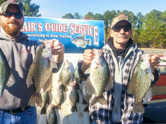Cold weather doesn't slow down the crappie bite at North Carolna's Jordan Lake; it just moves it to deeper water.