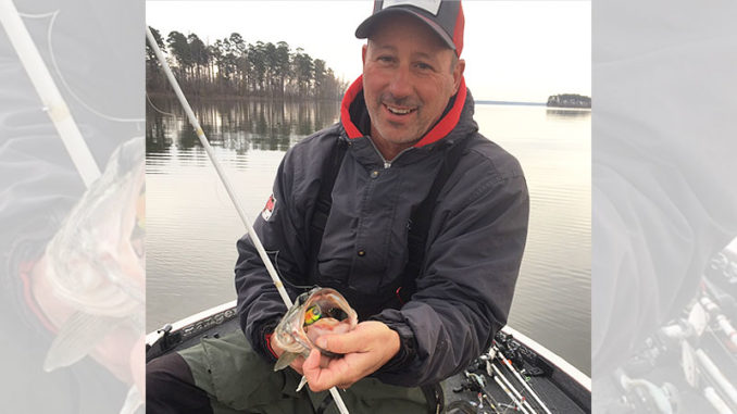 Dusty Anders used Rat-L-Trap's new MR-6 crankbait on a successful December trip.