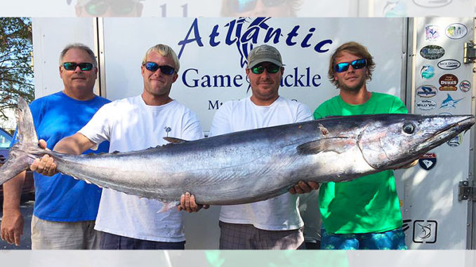 Winter wahoo gang up off the South Carolina coast where different offshore currents collide, creating a hard edge with different temperatures on both sides.