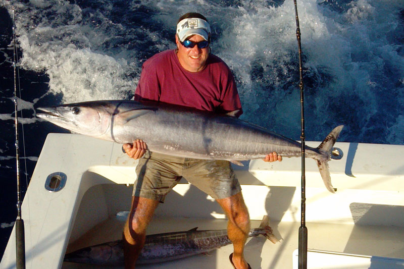 Wahoo are a big part of winter and spring catches off the coast of the Carolinas. These aggressive fish are among the fastest in the ocean.