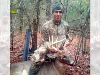 Youth hunter kills big 9-point buck with an air rifle