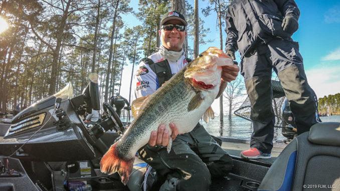 bass fishing on Lake Murray
