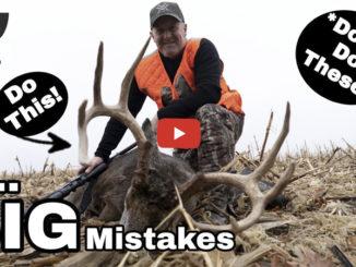 deer hunting mistakes